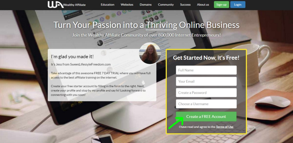Wealthy Affiliate Review- Sign Up