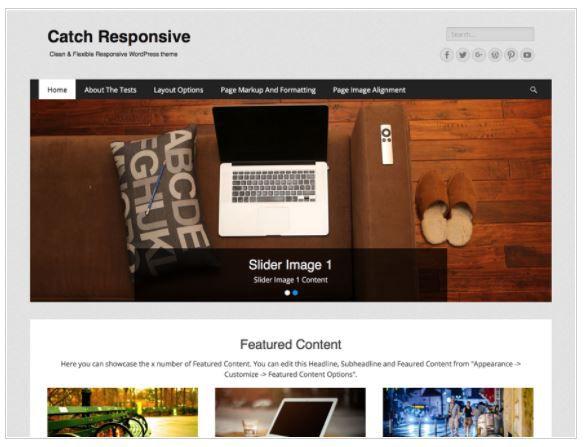 Top Free WordPress Themes-Catch Responsive