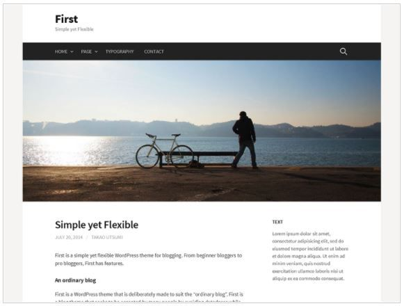 Top Free WordPress Themes-First