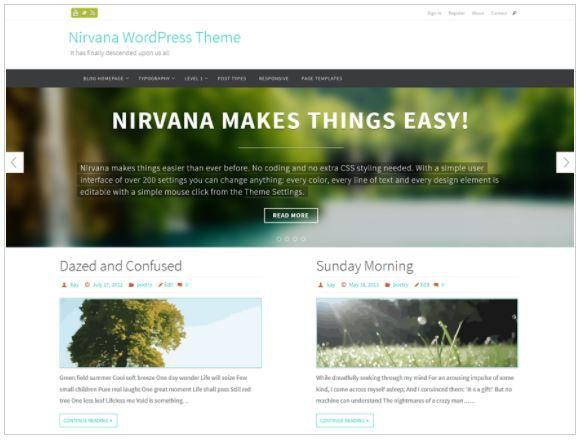 Top Free WordPress Themes-Nirvana
