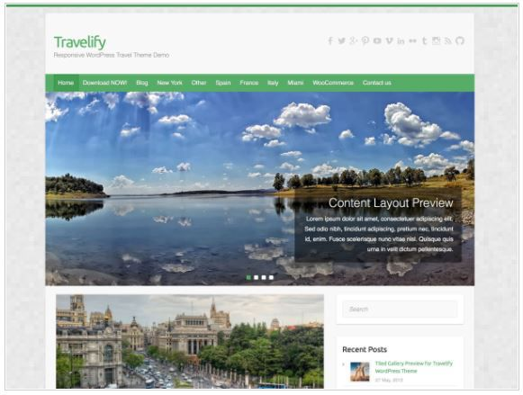 Top Free WordPress Themes-Travelify